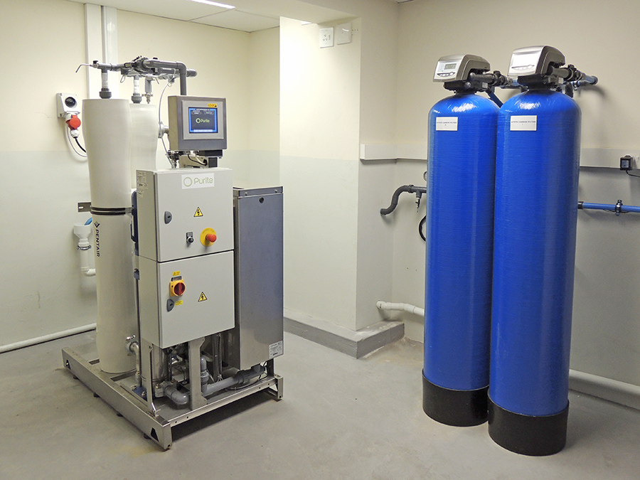 Remotely Monitored Water Purification System To South
